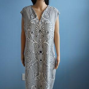 Cato Navy Blue&White Sleeveless Dress Size16W